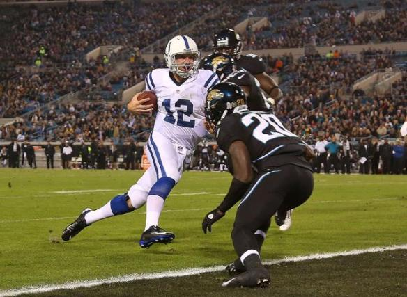 Luck should have a strong night against a tough Titans pass defense
