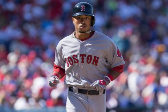 Mookie Betts is off to a hot start in 2015