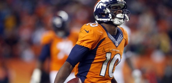 A run oriented offense will take a bite out of Emmanuel Sanders fantasy numbers