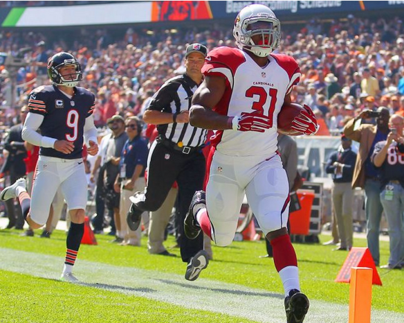 David Johnson is bursting with talent, but still playing behind Chris Johnson