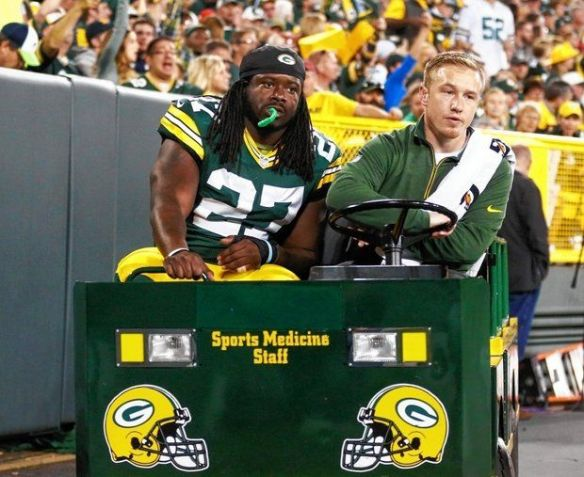 Double trouble for fantasy owners - Lacy is questionable and the game is Monday night