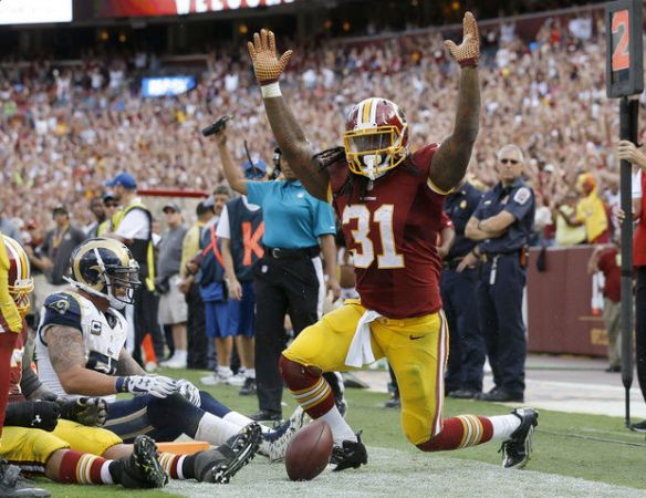 Redskins running back will be the most sought after player coming into Week 3