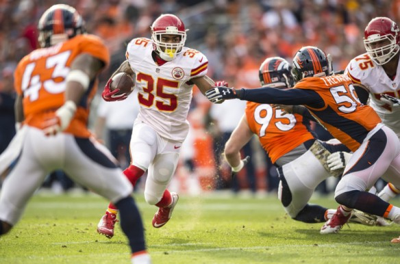 Charcandrick West has scored at least 17 fantasy points in three straight contests