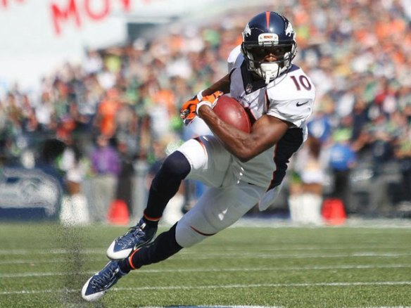 Emmanuel Sanders is listed as a dreaded game-time-decision for fantasy owners