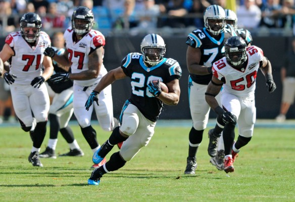 The Panthers will take on the Giants in NJ this week without Jonathan Stewart